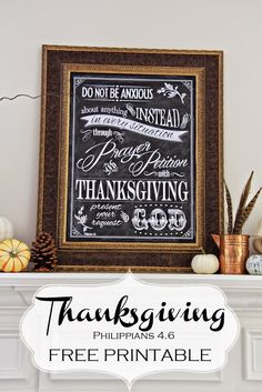 FREE Thanksgiving Printable; Philippians 4:6