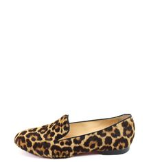 Smoking Slippers, Pony Hair, Grosgrain, Christian Louboutin, Loafers, Slip On, Flats, Heels, Leather