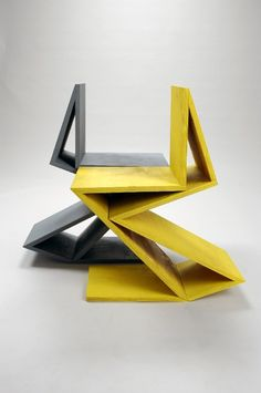 "[CRAFT+DESIGN] Remix Gerrit Rietveld chair ""Zig Zag""  by Kateryna Sokolova //"