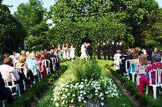 Wedding Ceremony in Garden at Oatlands
