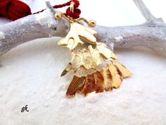 Brass Christmas tree ornament bookmark lucky by GeorgiaCollection, Christmas Tree Ornaments, Christmas Gifts, Brass, Street, Unique Jewelry, Handmade Gifts, Etsy, Vintage, Xmas Gifts