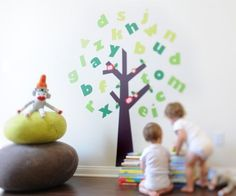 Tree of Knowledge Pop & Lolli Fabric Wall Decals by Pop & Lolli. $107.00. Green, eco-friendly inks and materials used.. Fun, large, interactive designs that will transform a room!. Safe for children.. Made in the USA.. Removable and repositionable FUN fabric wall decals. Just peel and stick!. 29 Chic Fabric Stickers includes: 1 Tall Tree. 26 Leafly Letters: a b c d e f g h I j k l m n o p q r s t u v w x y z. 2 dots for i & j. Courageous & Confident, made from precision, ...