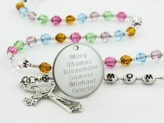 This item is unavailable Religious Gifts, Religious Jewelry, Engraved Gifts, Personalized Gifts, Wire Jewelry, Unique Jewelry, Mother Jewelry, Light Amethyst, Mom And Grandma