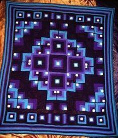 Mandala Geometric blanket - free pattern