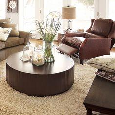 arhaus valeta brown coffee table