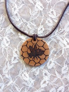 Honey bee essential oil diffuser necklace! #savethebees #etsygifts