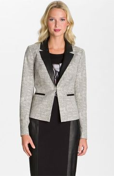 Classiques Entier® 'Pietra' Leather Trim Jacket available at #Nordstrom