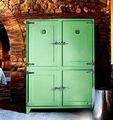 The retro designed refrigerator