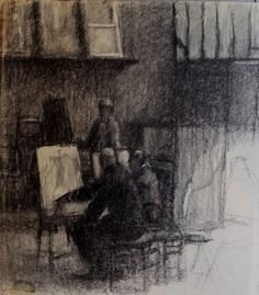 Georges Seurat scène d'atelier (by veluandcoco)