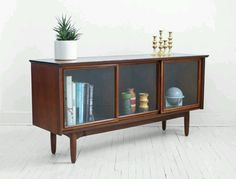 mid-century modern amoire --- sitting room or media console for my office/studio