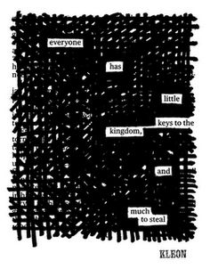 Blackout poetry.