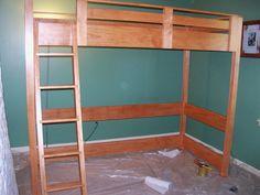 Full Size Loft Bed Plans Loft Bed Inspirations How To Build A Full Size Loft Bed How To Build A Full Size Loft Bed
