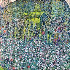 Horticultural Landscape with hilltop, Gartenlandschaft mit Bergkuppe - Gustav Klimt, 1916. Kunsthaus Zug, Stiftung Sammlung Kamm, Switzerland #klimt