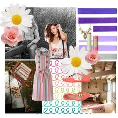 SUN SPRING by diaparsons on Polyvore featuring People Tree, Melissa, Charlotte Russe, Pixi, Calvin Klein Jeans, GE, Spring, Pink, Blue and sundress