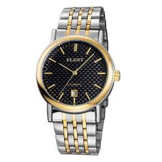 FLENT 7008 Fad Pointers Automatic Mechanical Male Hollow-out Wristwatch Date Function Watch Stainless Steel Band