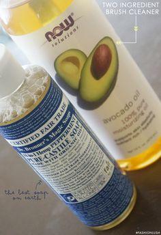 ++ two ingredient make-up brush shampoo ++