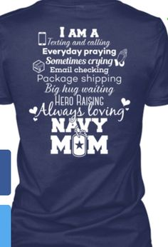 e5b30eadfa8ab3 Women's T-Shirt from Navy Moms, a custom product made just for you by  Teespring. - Navy Mom I Am A Texting And Calling Everyday.