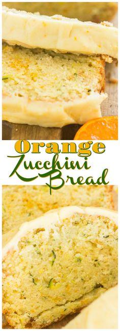 Orange Zucchini Bread with Orange Glaze - The Gold Lining Girl - Orange Zucchini Bread with Orange Glaze recipe image thegoldlininggirl… long pin 1 - Zucchini Desserts, Zucchini Bread Recipes, Zucchini Cake, Orange Zucchini Bread Recipe, Healthy Zucchini Bread, Yellow Zucchini Recipes, Zucchini Bread Muffins, Quick Bread Recipes, Dessert Bread