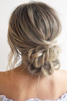 Wedding Hairstyles Ideas For Brides With Thin Hair ★ wedding hairstyles for thin hair low bun with braided texture on long hair blohaute