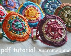 Macrame Tutorial 4 Valentine's Bracelet / PDF por Macramedamare