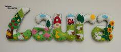 Baby Name Banners, Felt Name Banner, Felt Wreath, Felt Garland, Felt Animals, Bunting, Shapes, Etsy, Christmas Ornaments