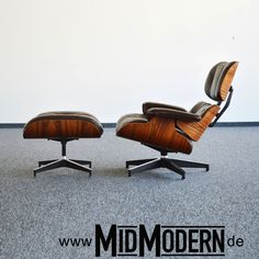 Eames Lounge Chair & Ottoman by Herman Miller, 1978, Rosewood, brown leather