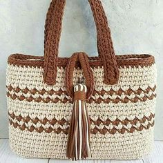 Best 11 Instead of buying a bag, you can Crochet Bag With String Thread very fast. We're excited you're here and checking out all the fun and we hope you'll join – SkillOfKing. Free Crochet Bag, Crochet Tote, Crochet Handbags, Tunisian Crochet, Crochet Purses, Knit Crochet, Crotchet Bags, Knitted Bags, Crochet Christmas Gifts
