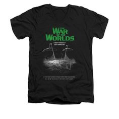 War Of The Worlds - Attack Poster Adult V-Neck T-Shirt