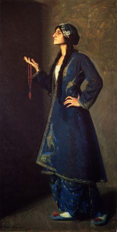Ralph Elmer Clarkson (1861-1942):  'Nouvart Dzeron, a Daughter of Armenia', 1912