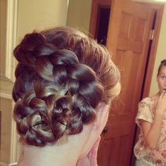 Hair by Sarah!! SO COOL!!! Doing awesome braids at a sleepover is awesome.  I can't even do a French braid so this is amazing to me :)