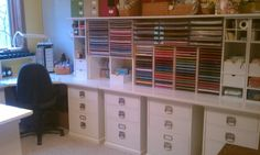Craft room paper storage 12x12 and 8.5 x 11