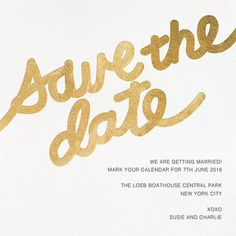 Love Letter - Gold - online at Paperless Post