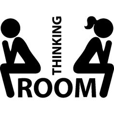 Thinking Room Toilet Paste Wc Door Sign Removable Toilet Wall Stickers Decor for sale online Bathroom Door Sign, Bathroom Doors, Bathroom Toilets, Bathroom Humor, Door Wall, Bathroom Wall, Bathroom Stickers, Wall Stickers, Wall Decals