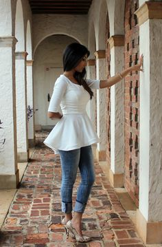 1) How to sew a sleeve the easy way. Click HERE 2) How to hem knits using a twin needle. ClickHERE 3) How to draft a peplum. Click HERE 4) How to press a seam. Click HERE 5) Easy Ruffle Lace Tank…