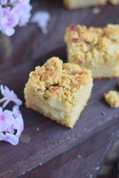 Apfelkuchen mit Pudding und Streuseln #herbst #food #cake (4)