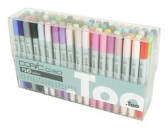 TOO Copic Ciao 72 color Set B Premium Artist Markers Comic Manga Japan new Copic Marker Set, Marker Art, Brush Markers, Alcohol Markers, Sketch Markers, Adult Coloring, Coloring Books, Coloring Pages, Coloring Sheets