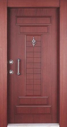Çelik üzerine doğal ahşap işlemesi apartman kapısı, na esnek güzel görünüm katıyor