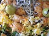 Receta Ensalada templada de langostinos y gulas
