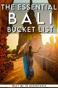 The Ultimate Bali Bucket List | Incredible things to do in Bali | Things to see in Bali | Bali itinerary | Indonesia itinerary | Stunning temples in Bali | Beautiful beaches in Bali | Wildlife in Bali |Infinity pools in Bali | Bali Rice Fields | Bali Giant Swings | Bali Rice Paddies | Best waterfalls in Bali | Best things to see in Bali | INCLUDES FREE DOWNLOADABLE CHECKLIST #Bali #Indonesia #BucketList Travel Route, Places To Travel, Travel Destinations, Beautiful Places In Usa, Beautiful Beaches, Bali Things To Do In, Travel Guides, Travel Tips, Bali Waterfalls