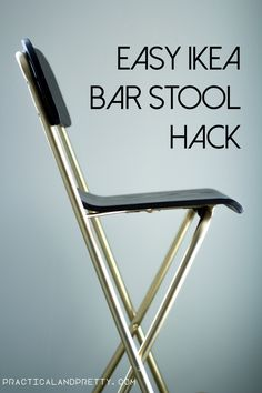 Gold and black Ikea barstool hack. Such a simple DIY.