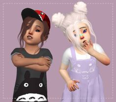 Toddler Nevaeh Hair Conversion for The Sims 4