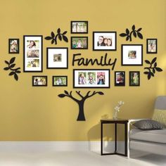 """19 Piece """"Family Tree"""" Wall Photo Frame Set Picture Collage Home Decor Art Gift Family Tree Photo, Family Tree Frame, Family Photos, Photo Tree, Picture Wall, Photo Wall, Picture Photo, Photo Arrangement, Family Wall Decor"""