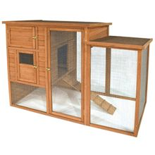 A six-chicken coop with attached run- because I want chickens SO BAD.