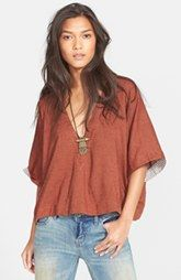 Free People 'Away We Go' V-Neck Pullover