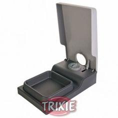 Comedero Para Perros Automático Tx1 300 Ml Gris Y Negro Trixie