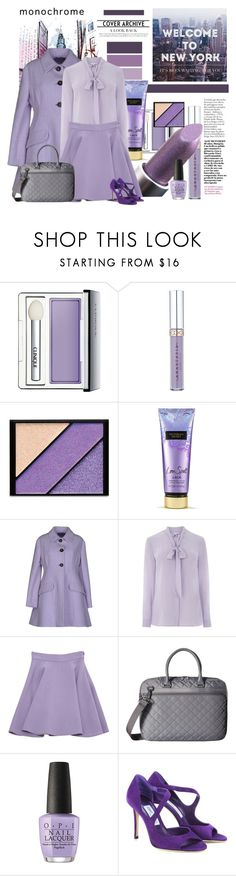 """""""City Girl"""" by traceygraves on Polyvore featuring Clinique, Elizabeth Arden, Victoria's Secret, Miu Miu, Warehouse, Hedgren, OPI and Jimmy Choo"""