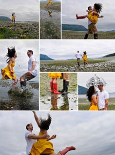 This would be a cool husband and wife surprise date!!. Rainy weather photo session ... Looks like FUN !!!!