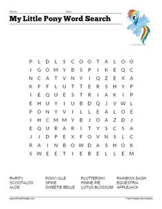 My Little Pony Word Search