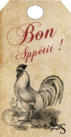 papers.quenalbertini: Vintage 'Bon Appétit' Label
