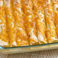 Breakfast Enchiladas! You can prepare them the night before, place in the fridge overnight and bake in the AM! I'm trying these ASAP.